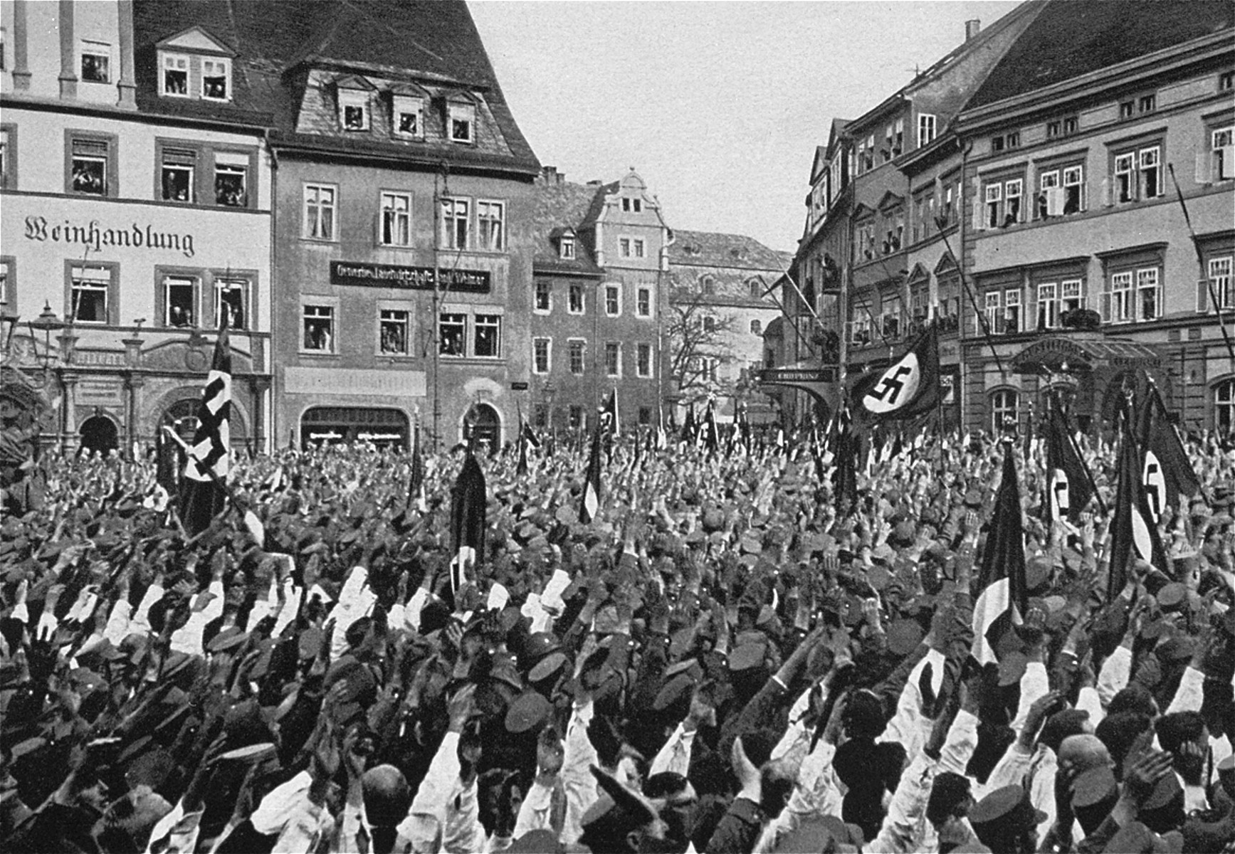A Nazi rally in Weimar.