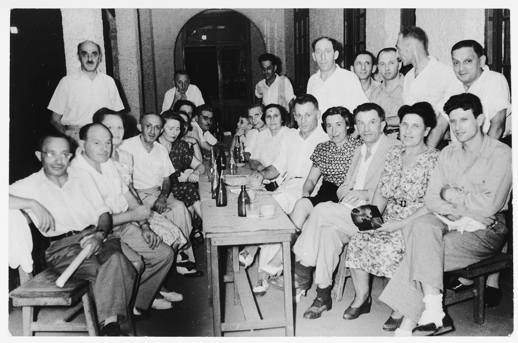 Meeting of the Guild of Craftsmen in Shanghai.  Pictured sitting on the right are Alfred, Ana and Rudolf Brosan.