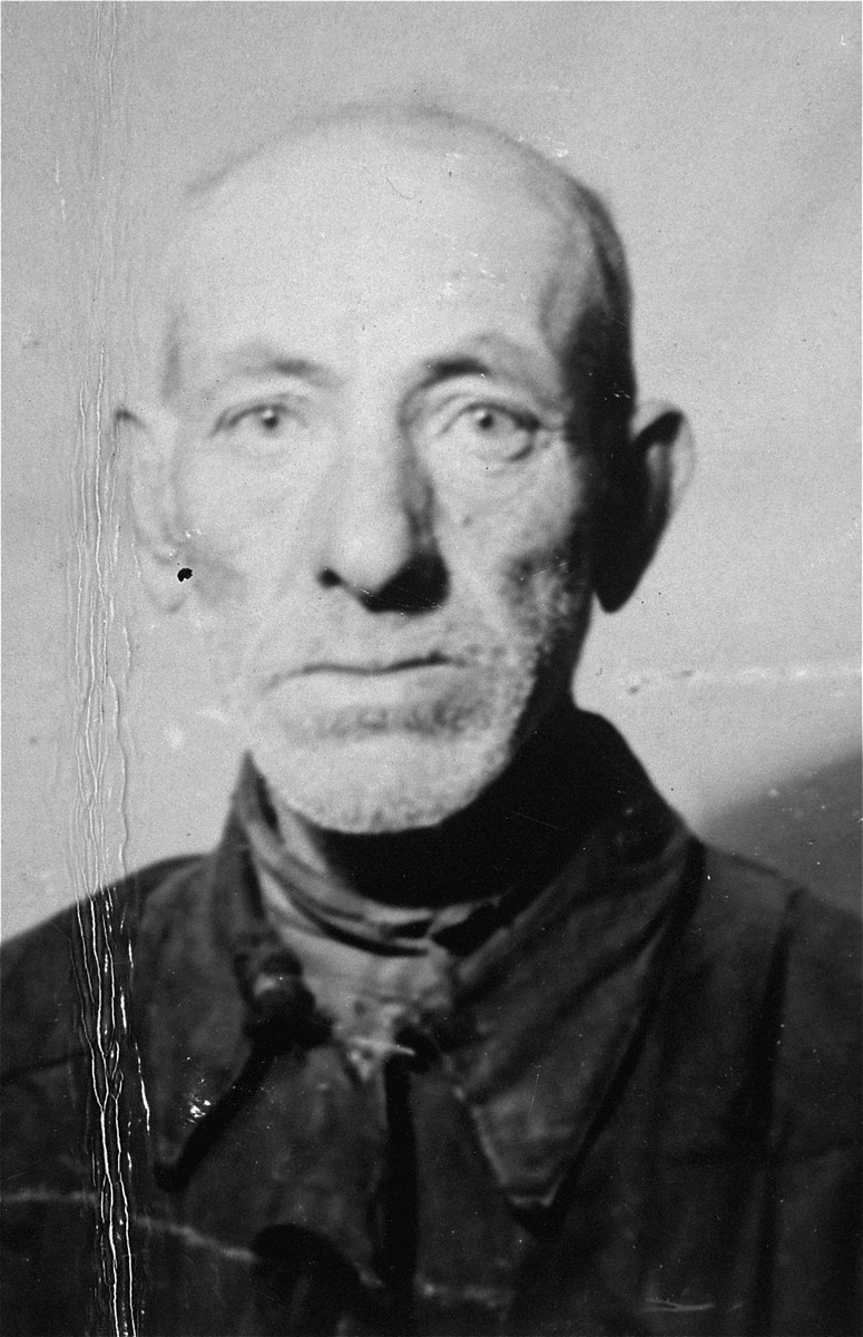 Portrait of Szmul Hersz Grinbaum in the Olkusz ghetto.  Pictured is the father of donor, Rose Grinbaum.  He was killed in 1942.