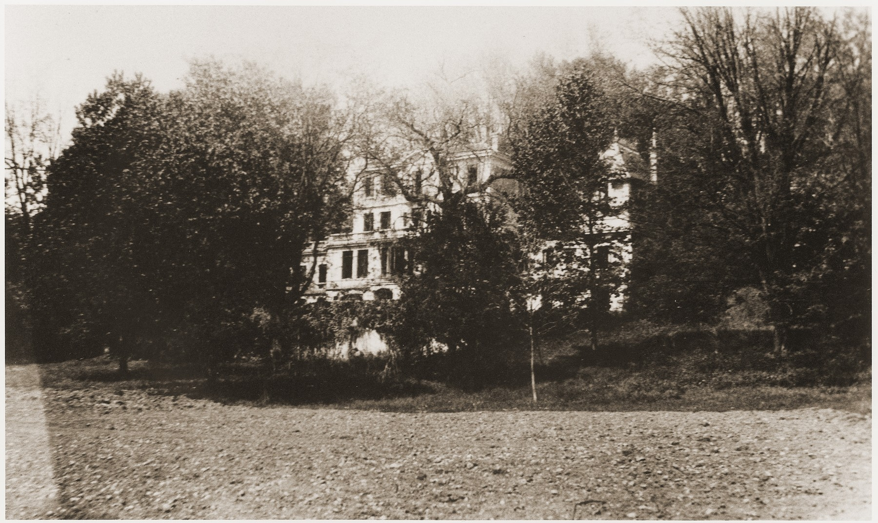View of the Chateau de Montluel children's home near Lyon, where children released from the Rivesaltes internment camp were brought in the spring of 1942.