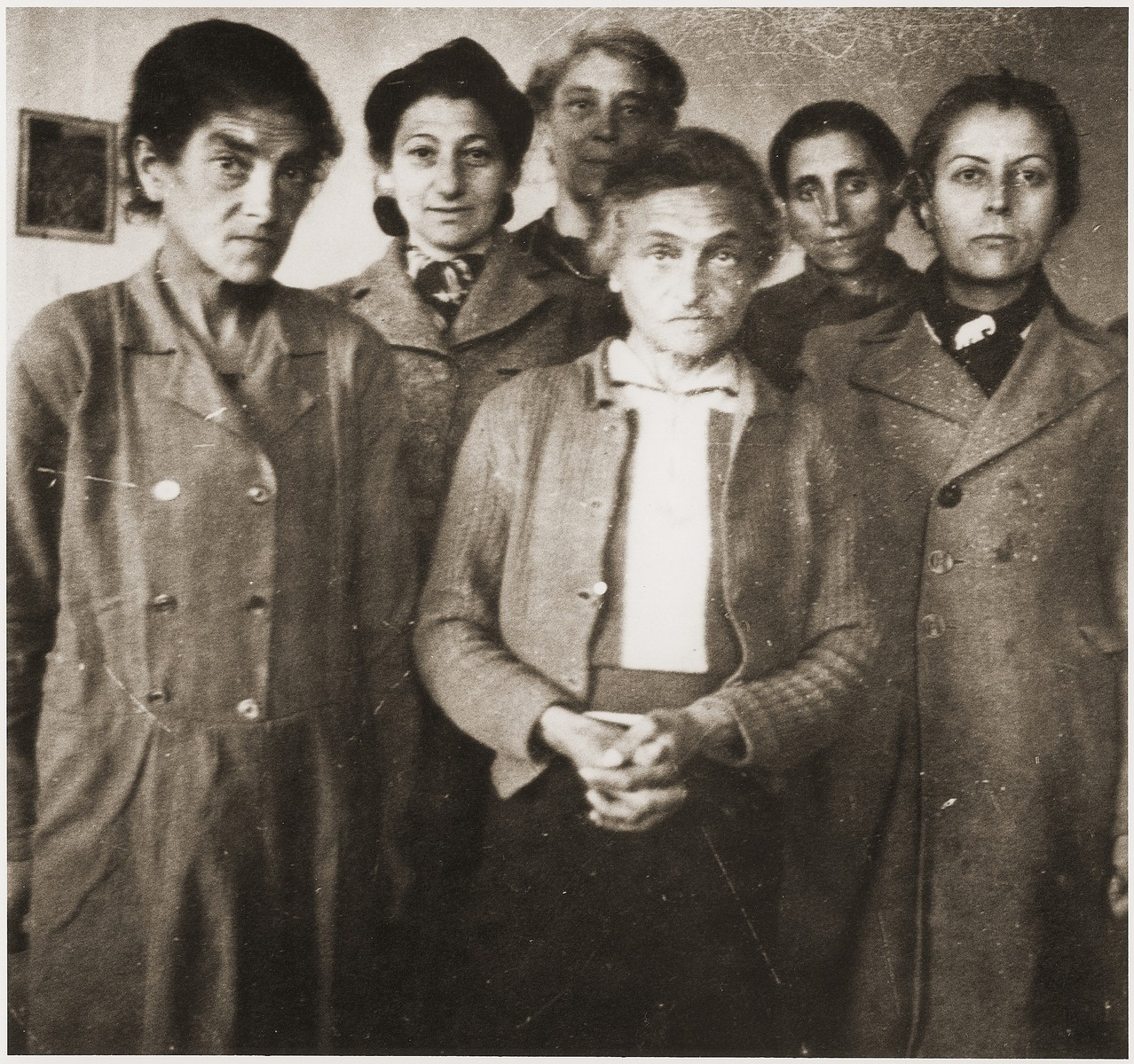 A group of malnourished women in the Rivesaltes internment camp.