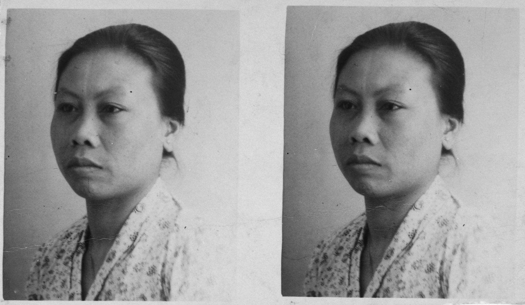 Portrait of Indonesian-Dutch rescuer Mima Saïna.