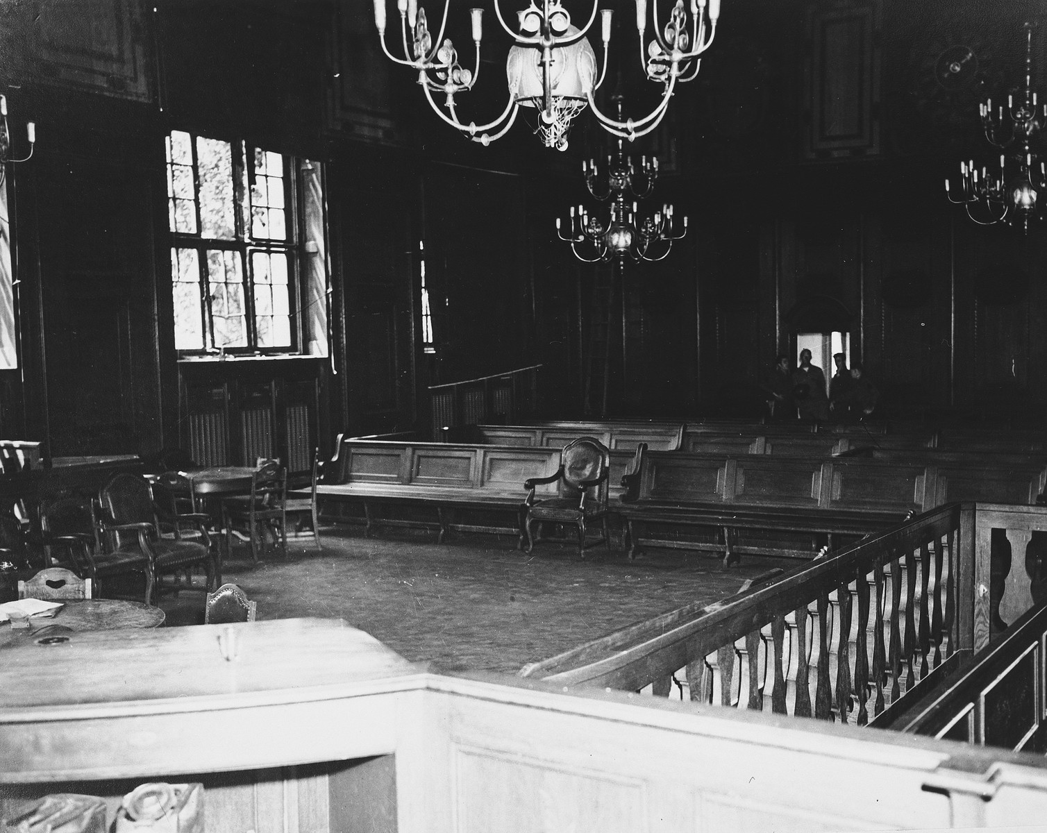 Interior view of the Palace of Justice in Nuremberg.