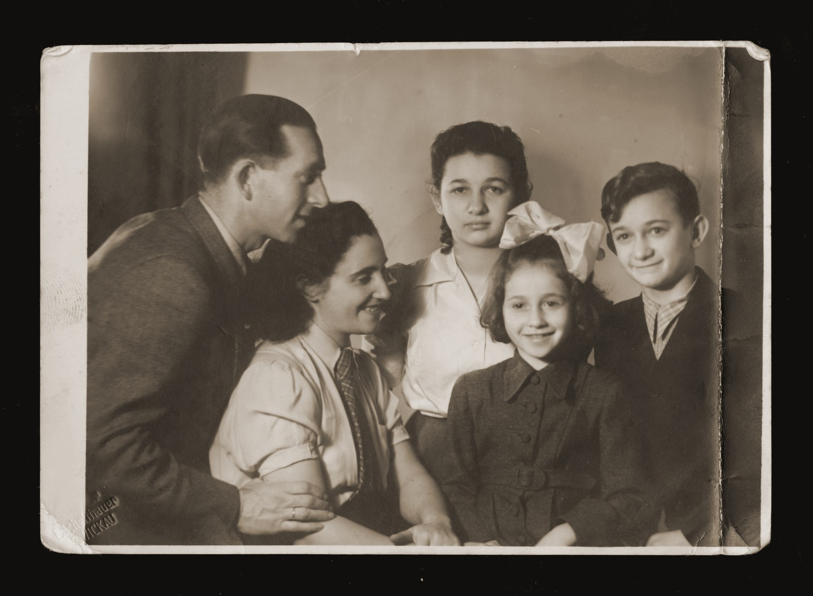 Portrait of the Malach family taken on Passover.