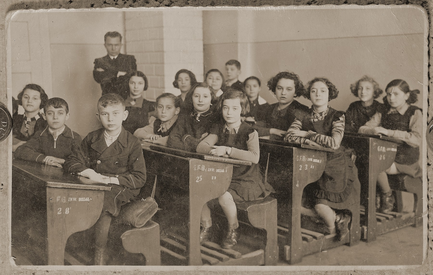 Class picture of an elementary school in Bedzin Poland.