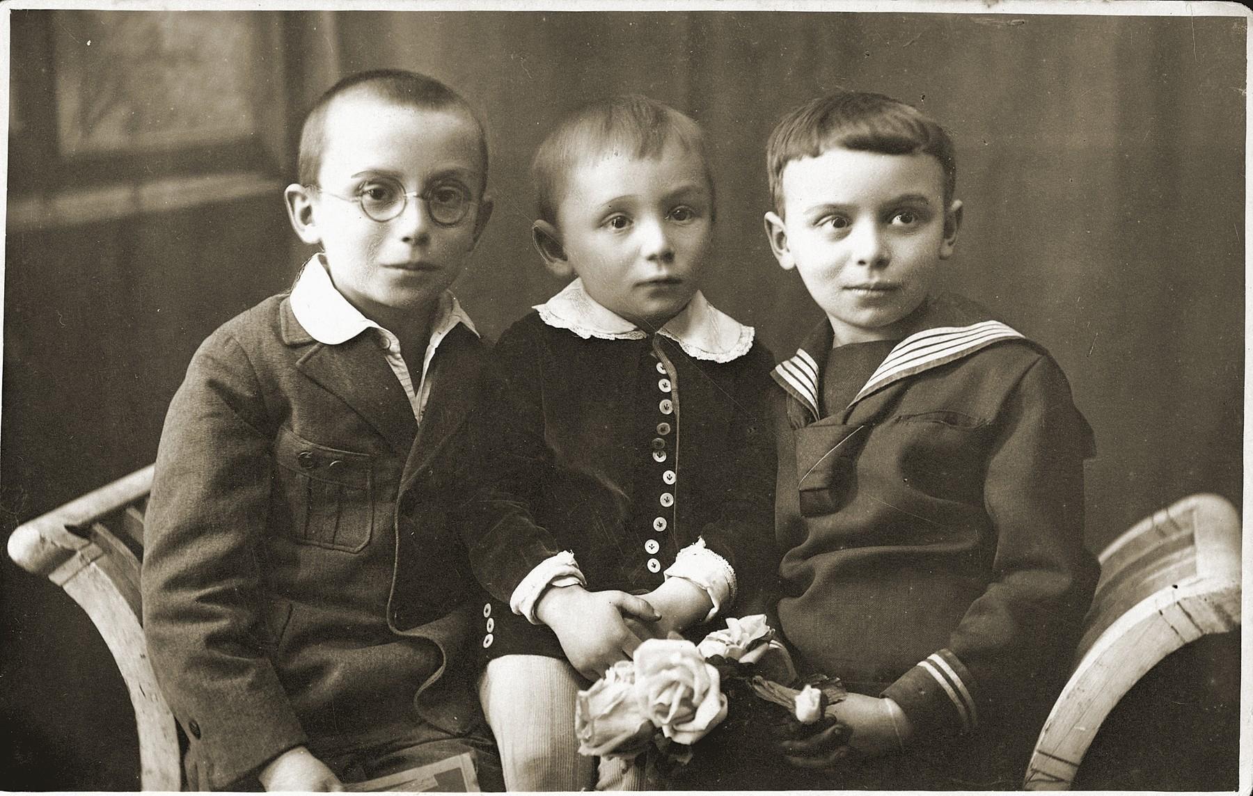 Portrait of Lolek, Yejik and Mancha Muszynski.