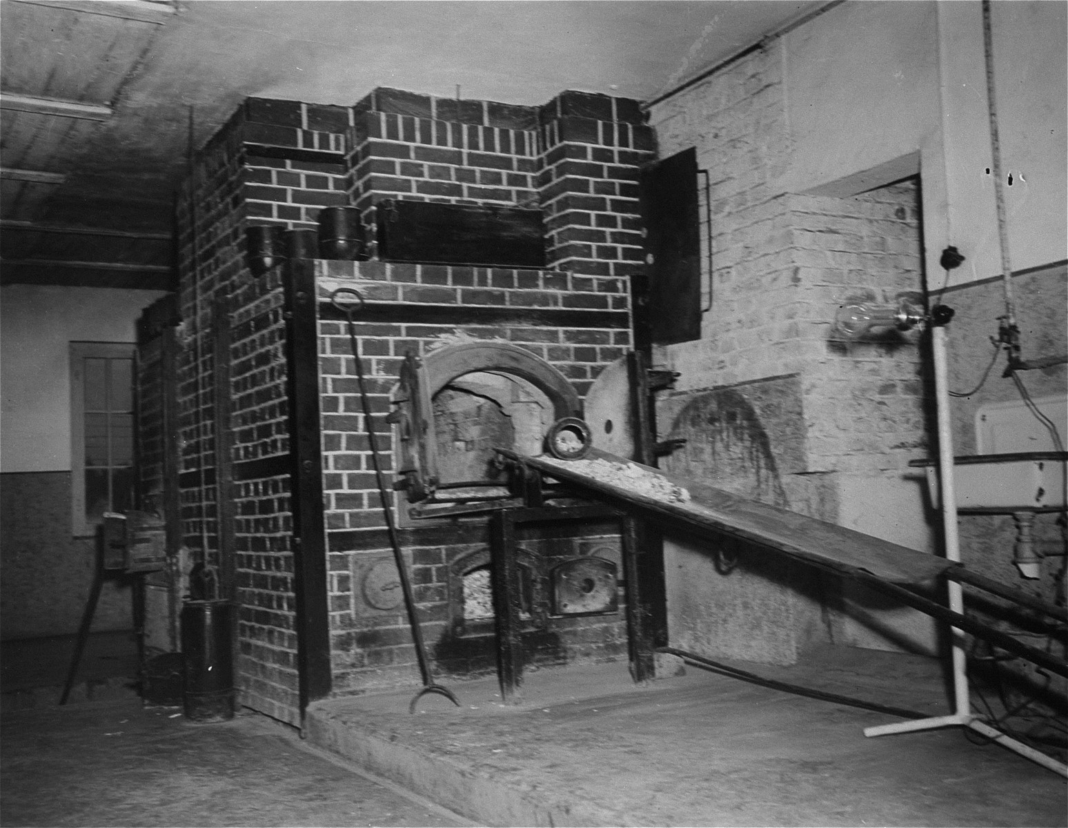 A crematoria oven in Ebensee, a sub-camp of Mauthausen.
