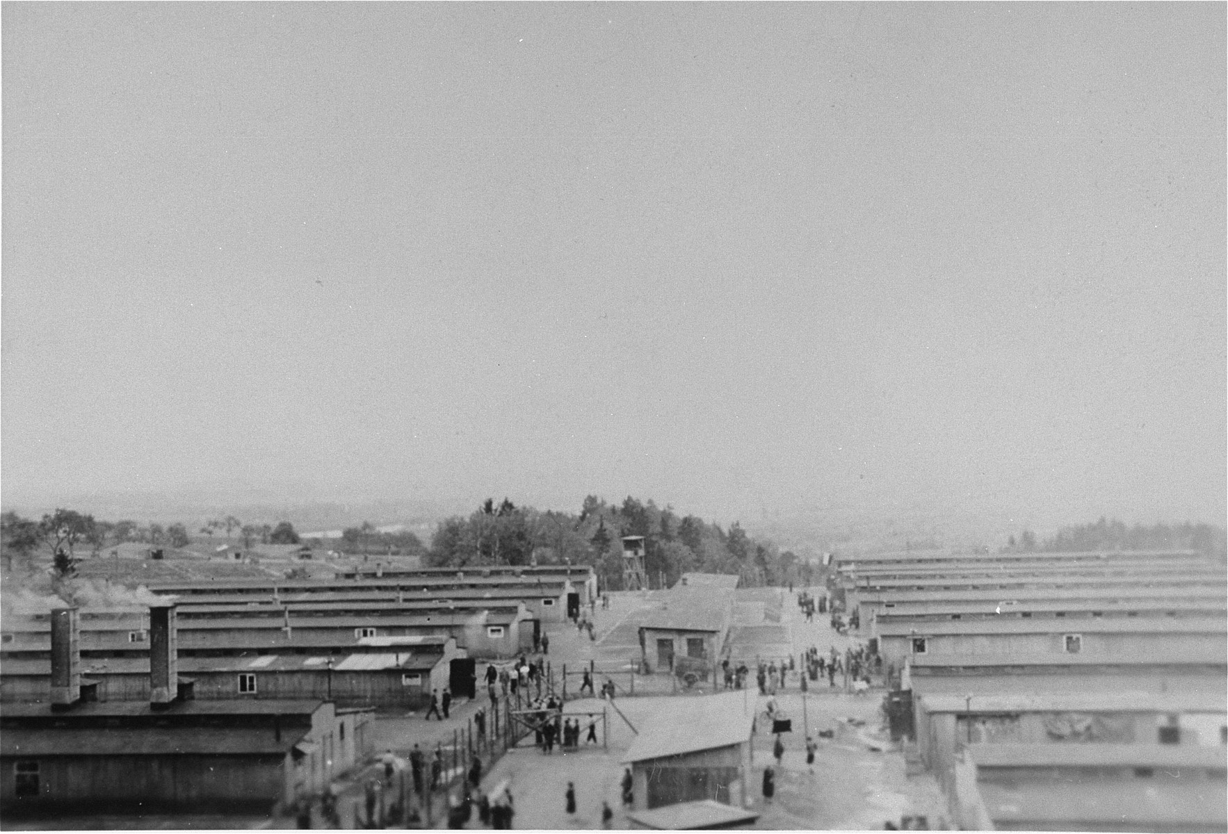 "View of the ""Russian camp"" at Mauthausen."