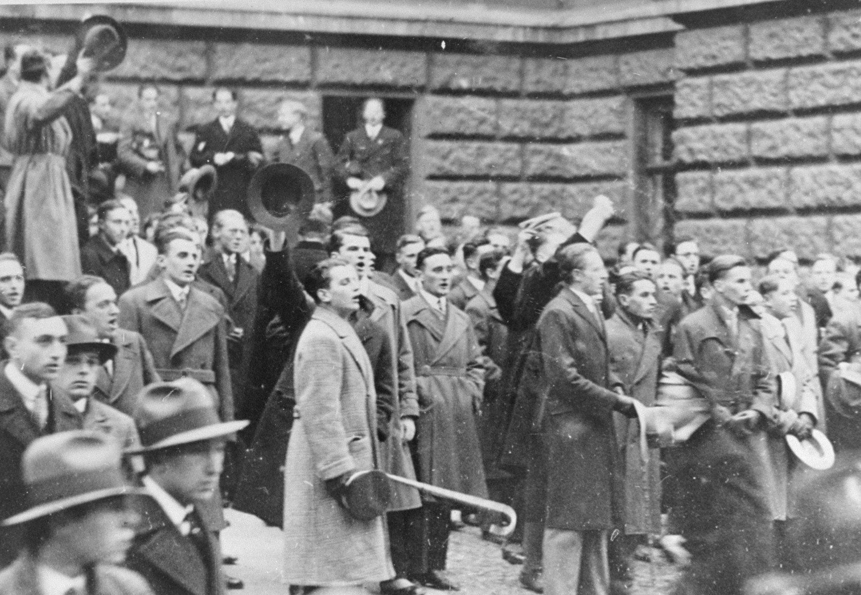 Students riot at the University of Vienna  after Nazi attempt to prevent Jews from entering the university.