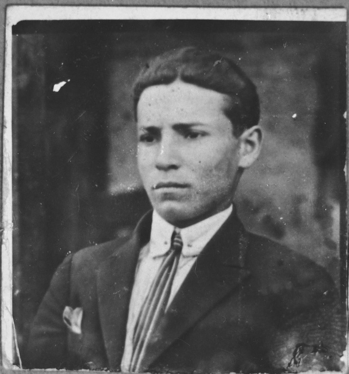 Portrait of Dario Koen.  He was a grocer.  He lived on Asadbegova in Bitola.