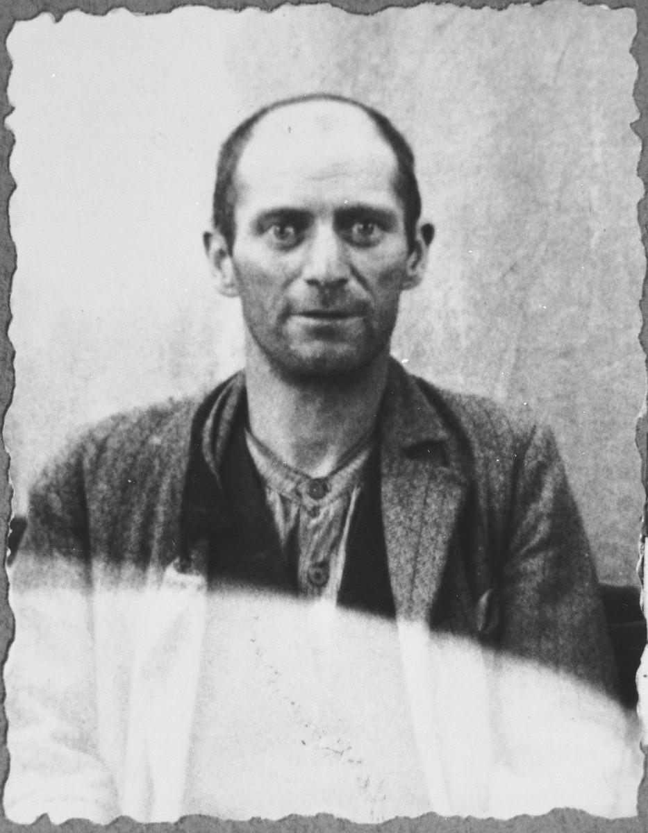 Portrait of Nissim Koen, son of Shalom Koen.  He was a miller.  He lived at Banatska 21 in Bitola.