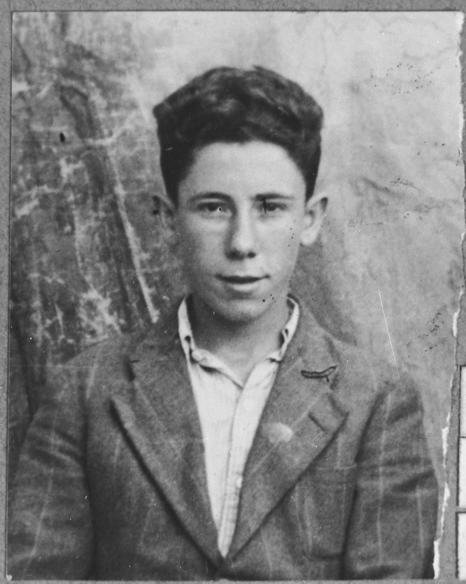Portrait of Jak Koen, son of Isak Koen.  He lived at Asadbegova 11 in Bitola.