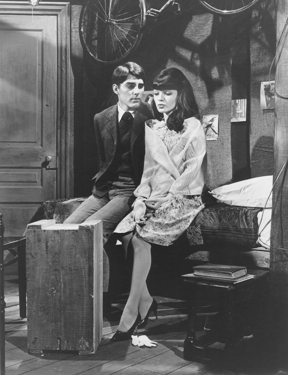 "Peter Beiger and Diana Davila star as Anne and Peter in a television rendition of the ""Diary of Anne Frank""."