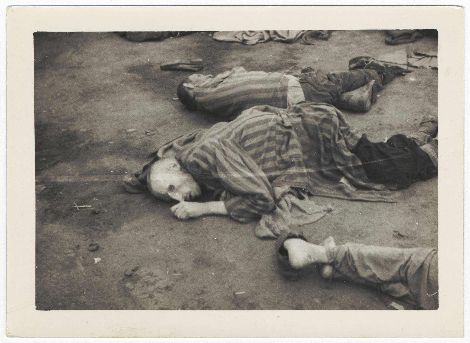 Bodies of Ohrdruf prisoners who were killed during the evacuation of the concentration camp.