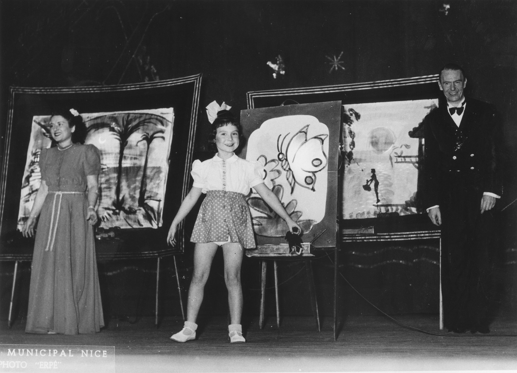 The Ruthling family performs a cabaret act while on tour in Nice.