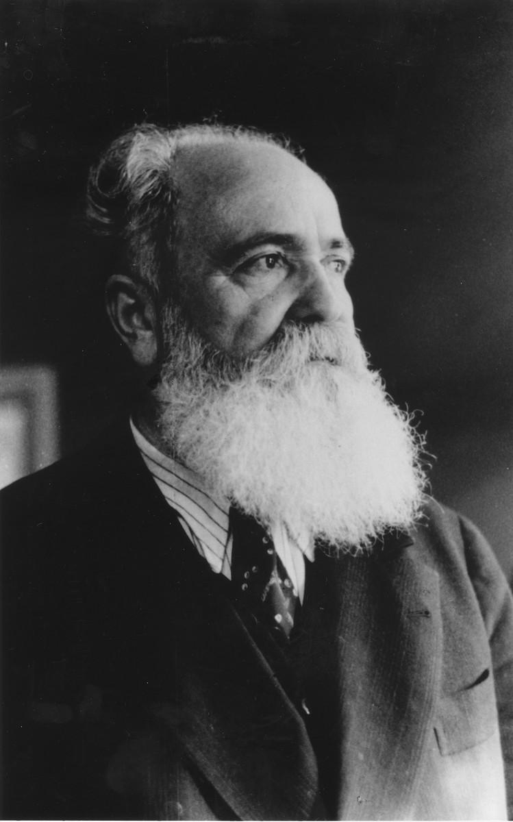 Portrait of Jacob Zerubavel.
