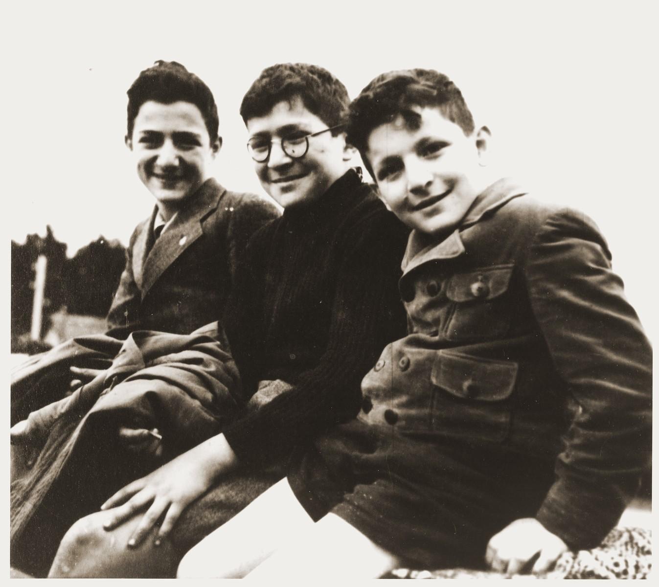 Amos, Binyamin and Shmuel Rabinovitch.
