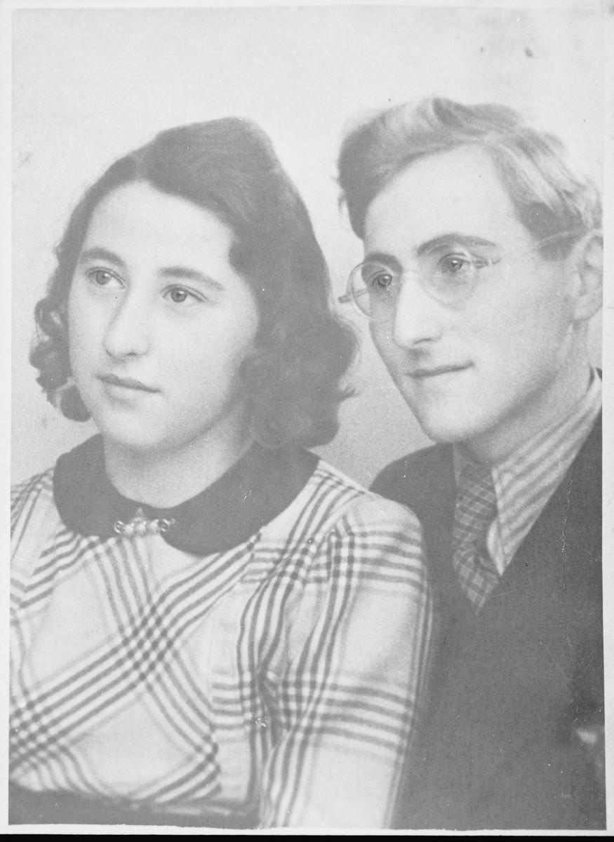 Portrait of Margot (Miriam) and Gerhard (Gad) Beck.