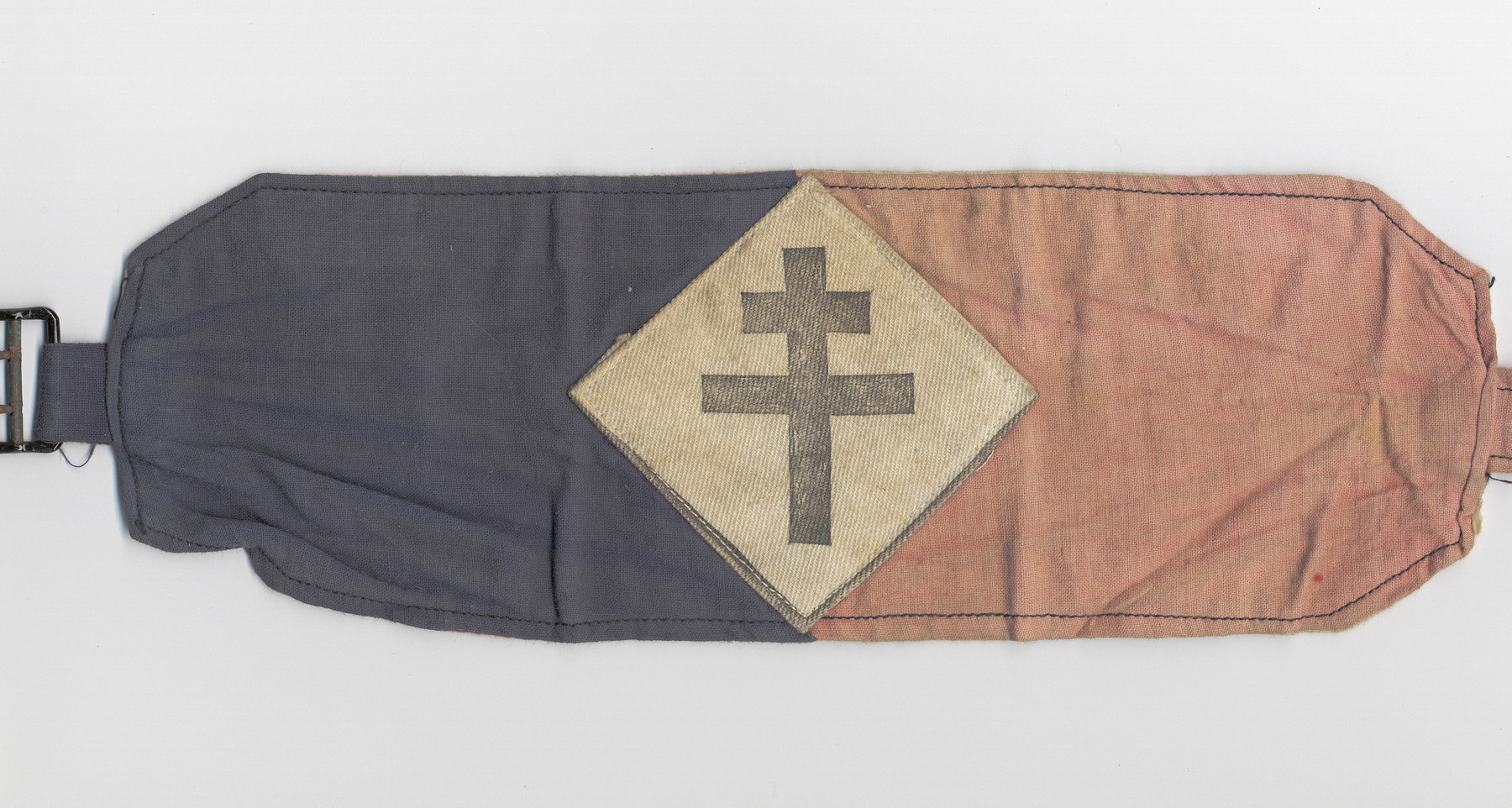 Armband with the Croix de Lorraine issued after the war to indicate the bearer had been in the resistance.