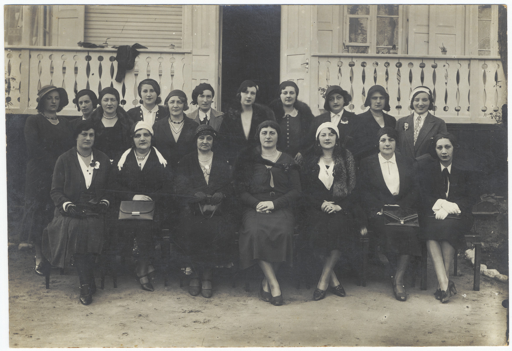 Board of the Jewish Kinderhaus in Kaunas.  Pictured at the top right is Rachel Zeidel.