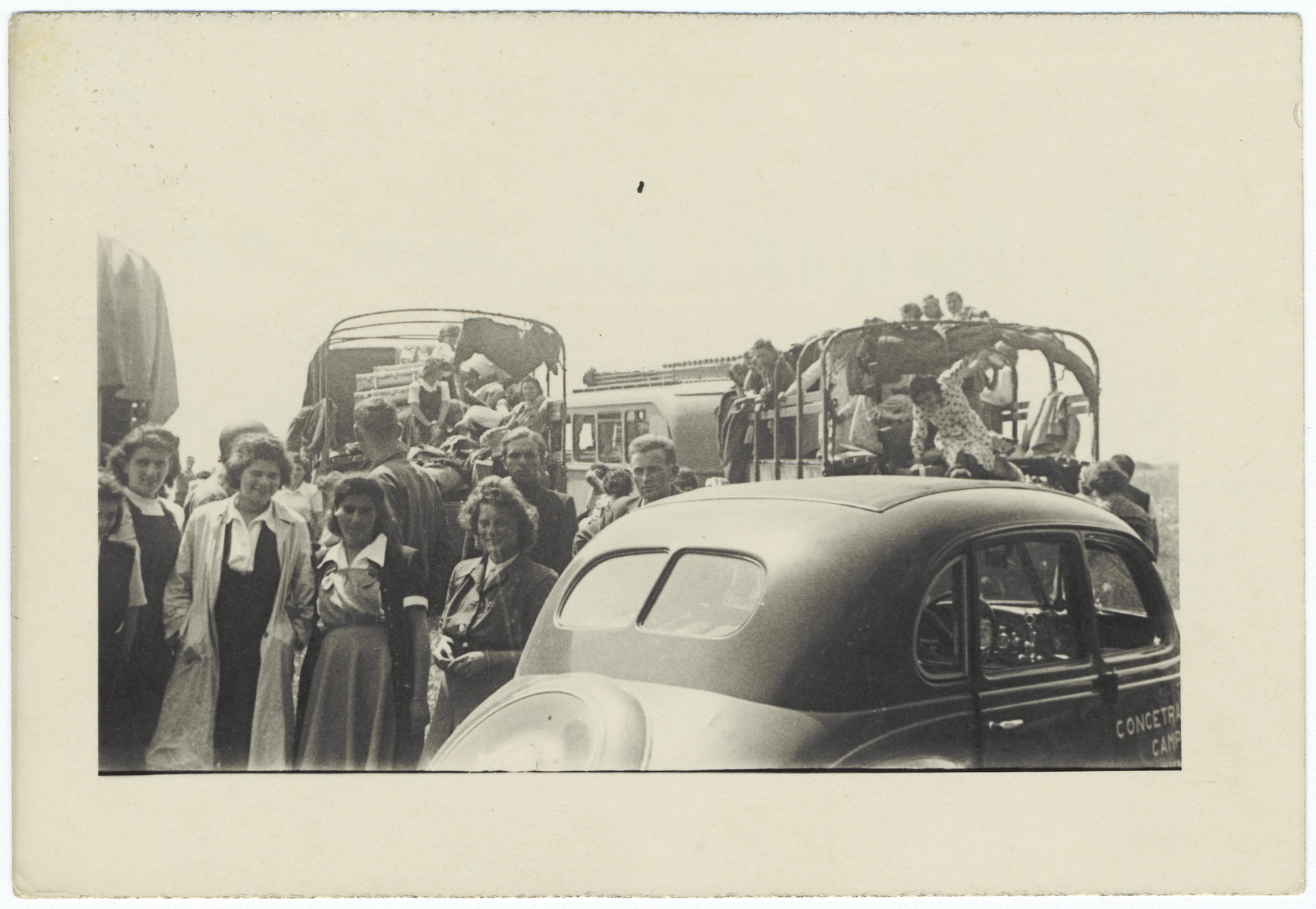 Hungarian Jewish female survivors prepare to depart for Switzerland.