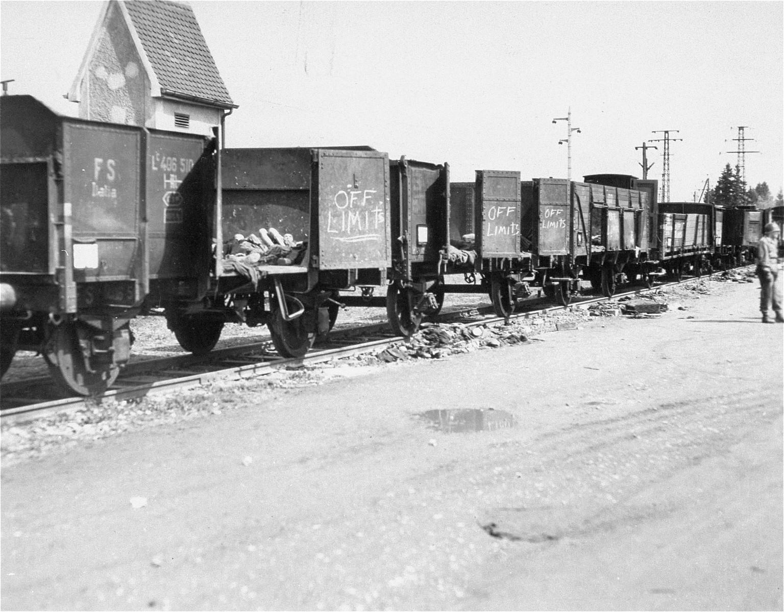 The death train in Dachau.