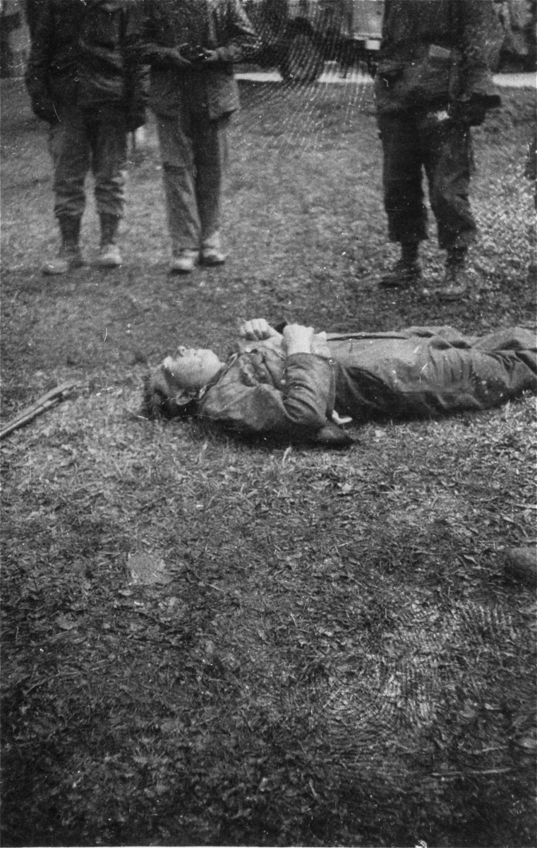 The corpse of an SS guard.