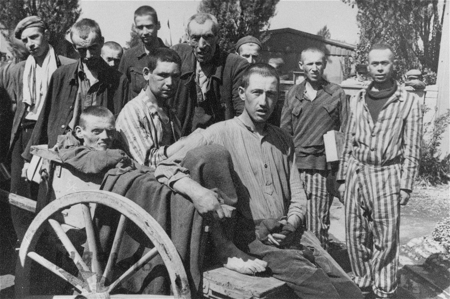 Survivors in Dachau.