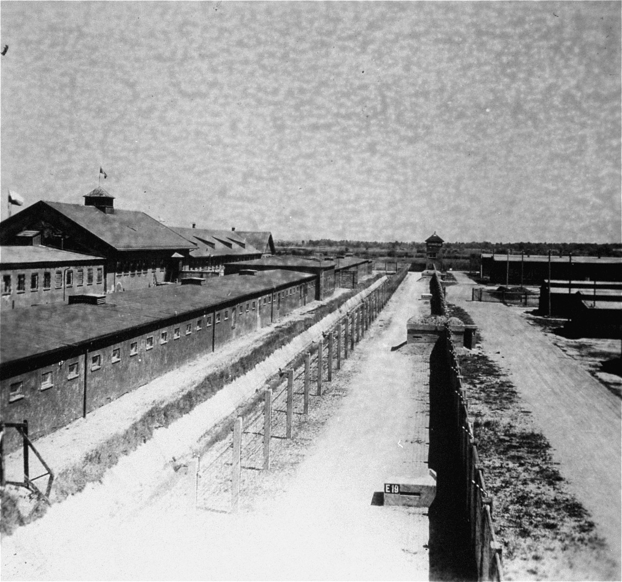 A section of the perimeter of the Dachau concentration camp that separated the camp proper from the factories where prisoners labored.