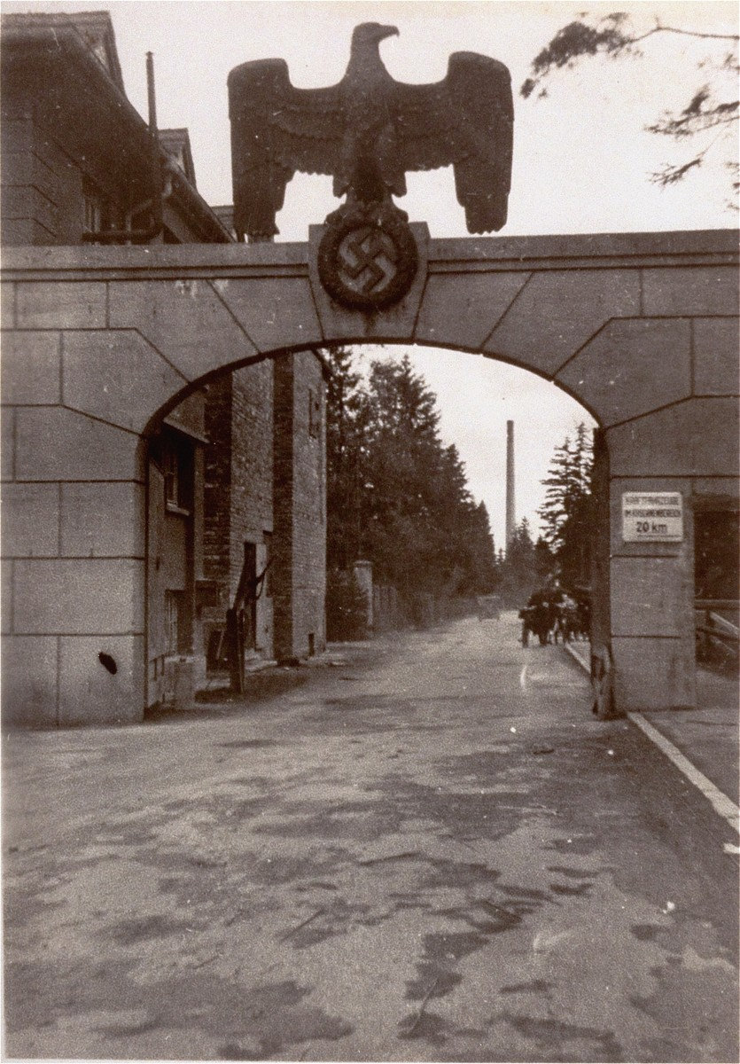 The entrance to the SS camp.