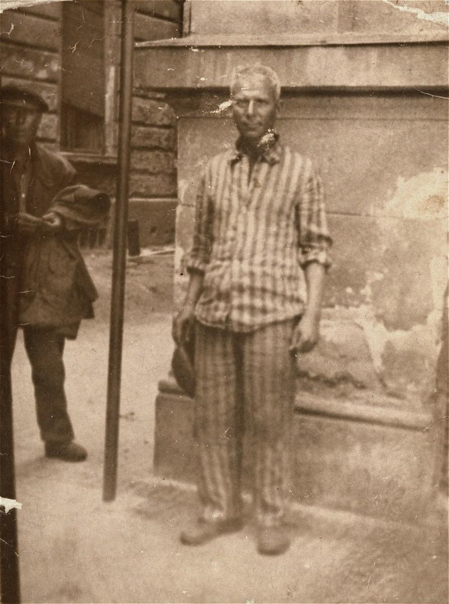 Joseph Katz, a survivor who was liberated in Dachau.
