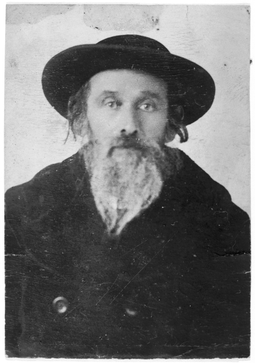 Portrait of the Spinka rebbe, Yosef Meir Weiss (author of Imre Yosef), of Maramaros-Sighet.