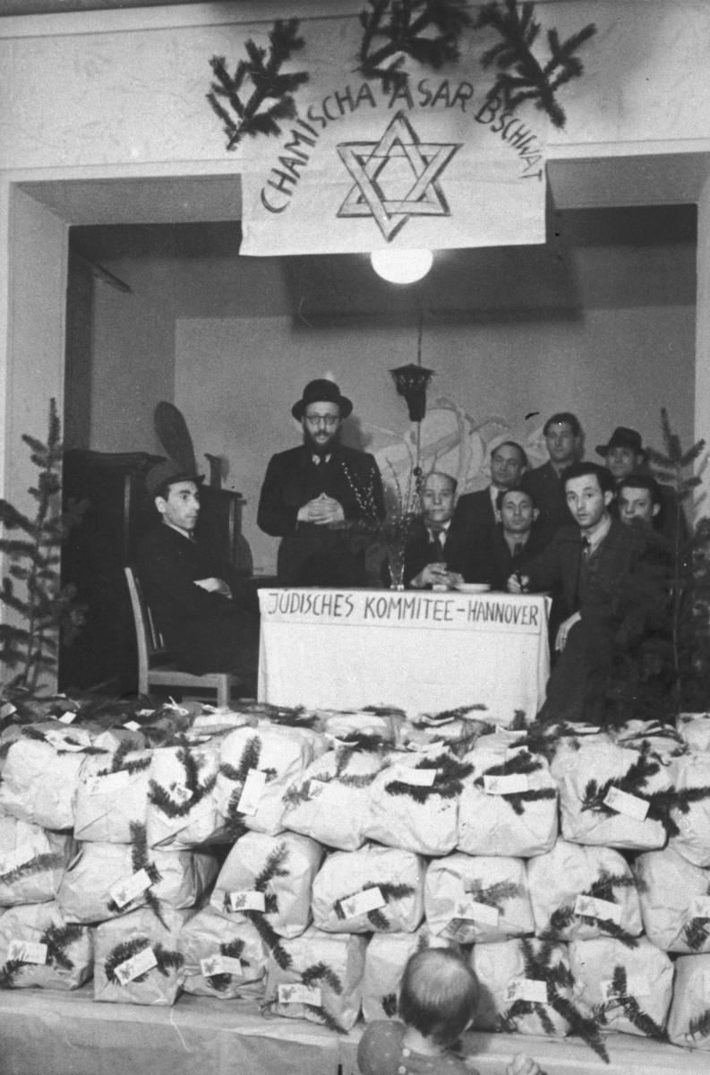 The Jewish Committee celebrates Tu B'Shvat in the Hanover DP community.