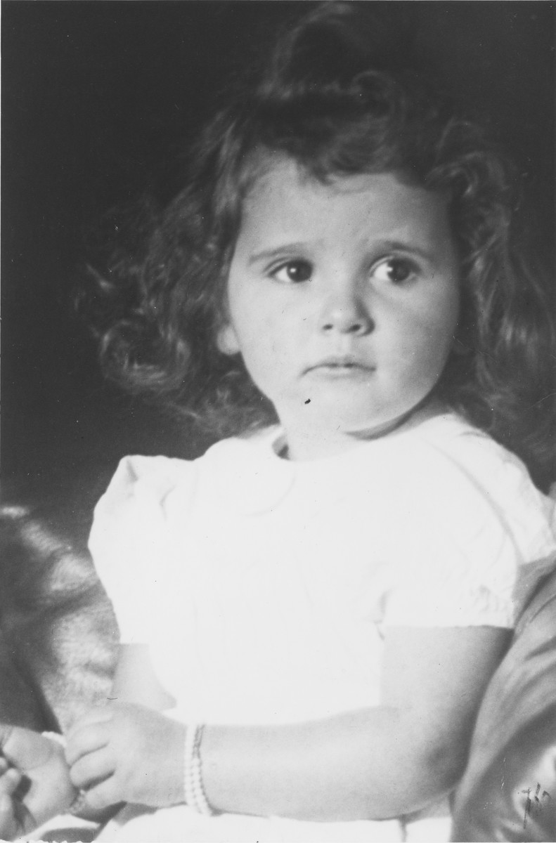 Portrait of Elizabeth Reiss, a Jewish child who during the German occupation of Holland, was placed in hiding.
