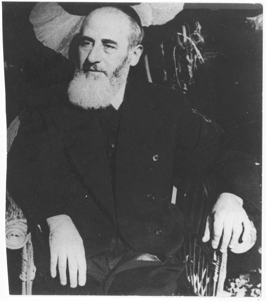 Portrait of the Dr. Rabbi Samuel Danzig, rabbi of the Sephardic community.
