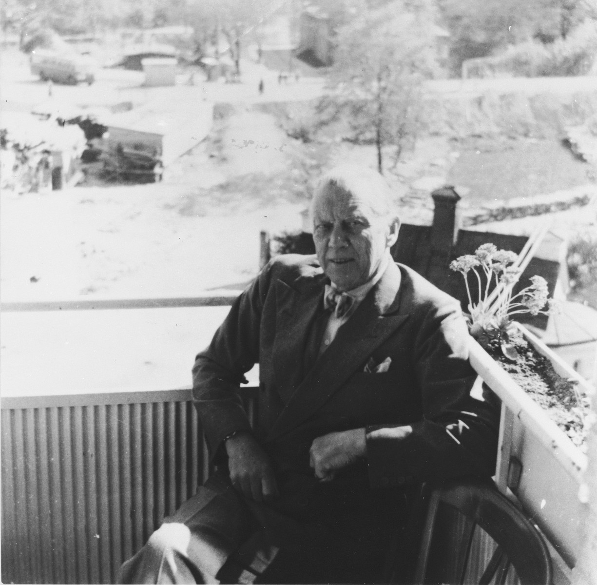 Portrait of Carl Ivan Danielsson, head of the Swedish legation in Budapest, 1944-45.    Danielsson (1880-1963) has been recognized by Yad Vashem as one of the Righteous Among the Nations for his involvement in the rescue of Budapest Jews in the last year of the war.