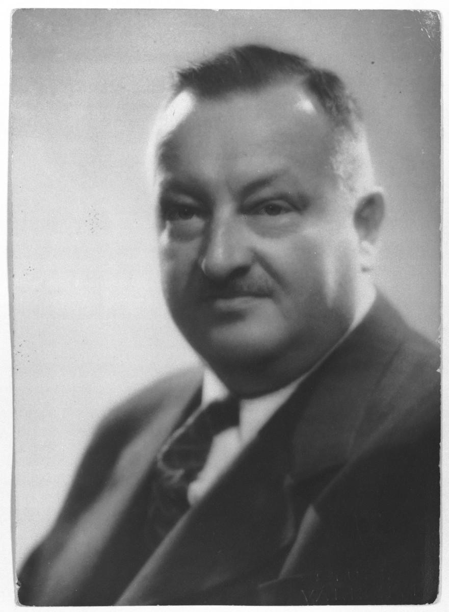 Portrait of diplomatic rescuer Franz Bischof.