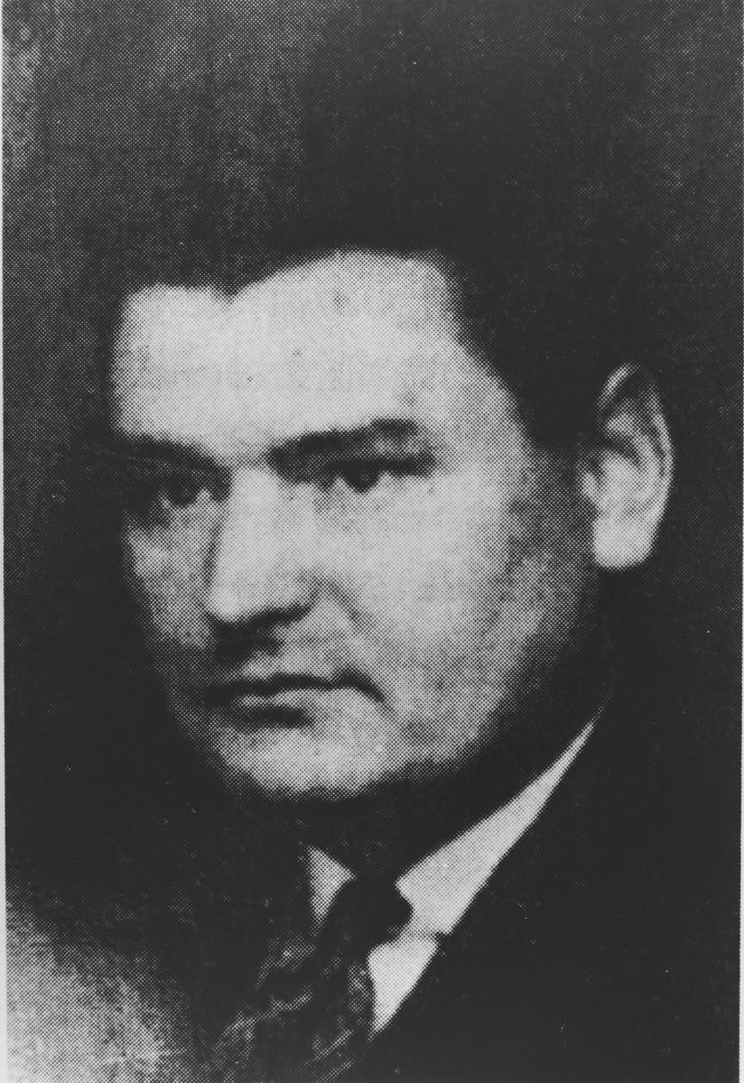 Portrait of Henryk Slawik.