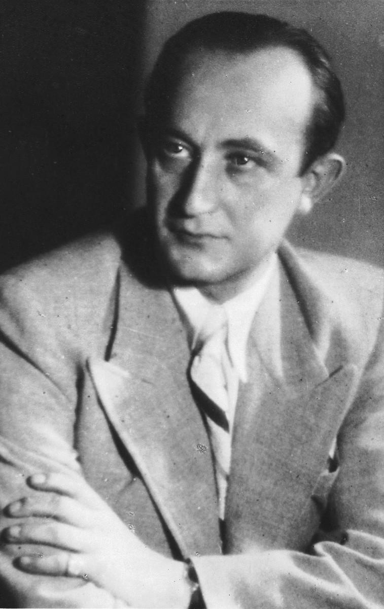 Portrait of diplomatic rescuer George Mandel-Mantello.