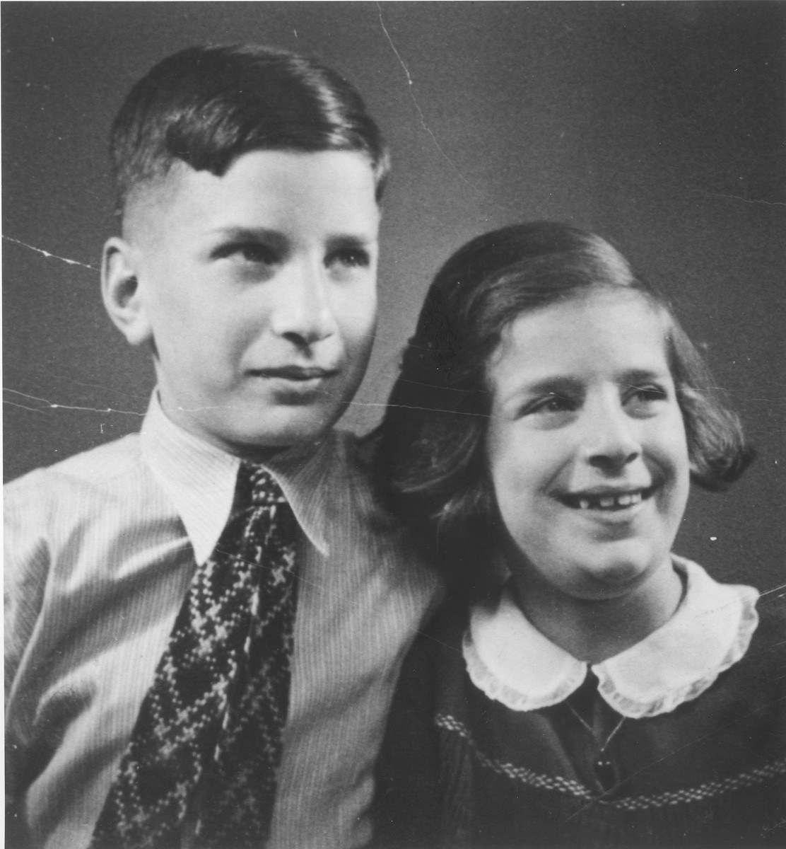 Portrait of Eva and Heinz Peter Rosenbaum taken shortly before they left for England.