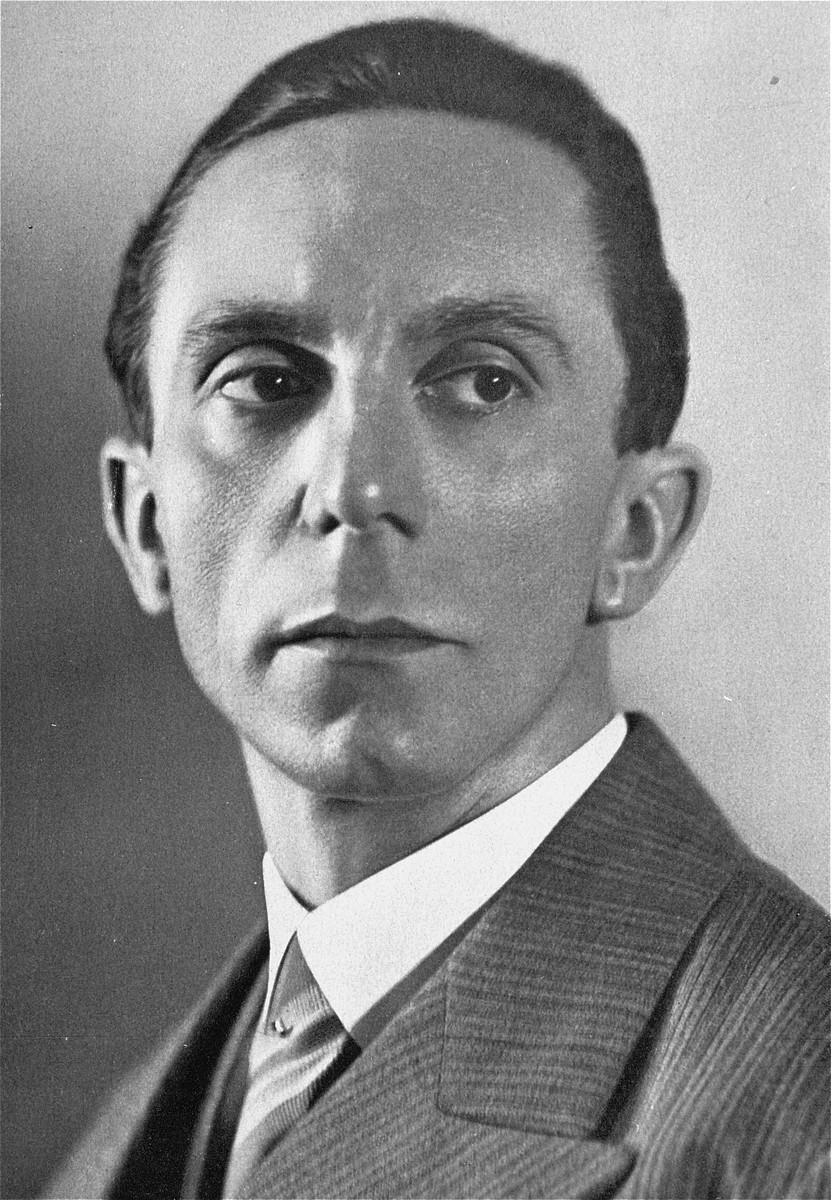 Portrait of Dr. Joseph Goebbels.