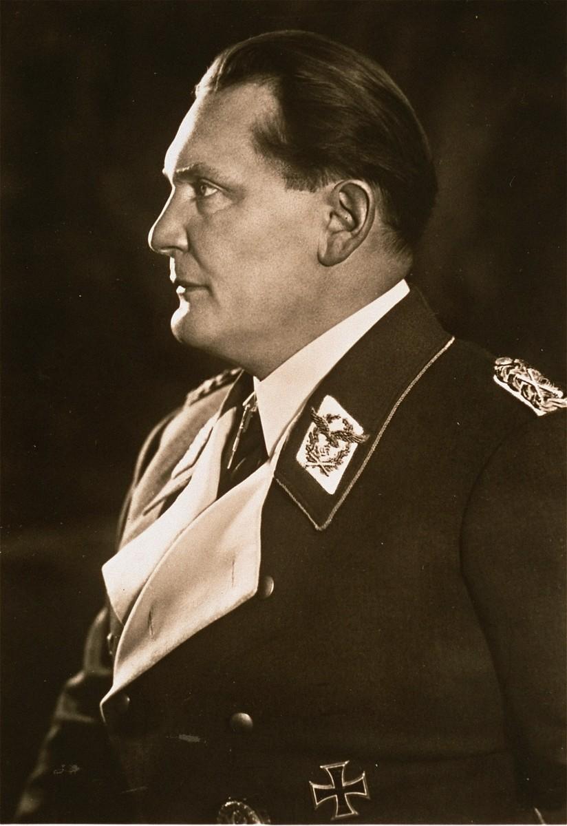 Studio portrait of Hermann Goering.