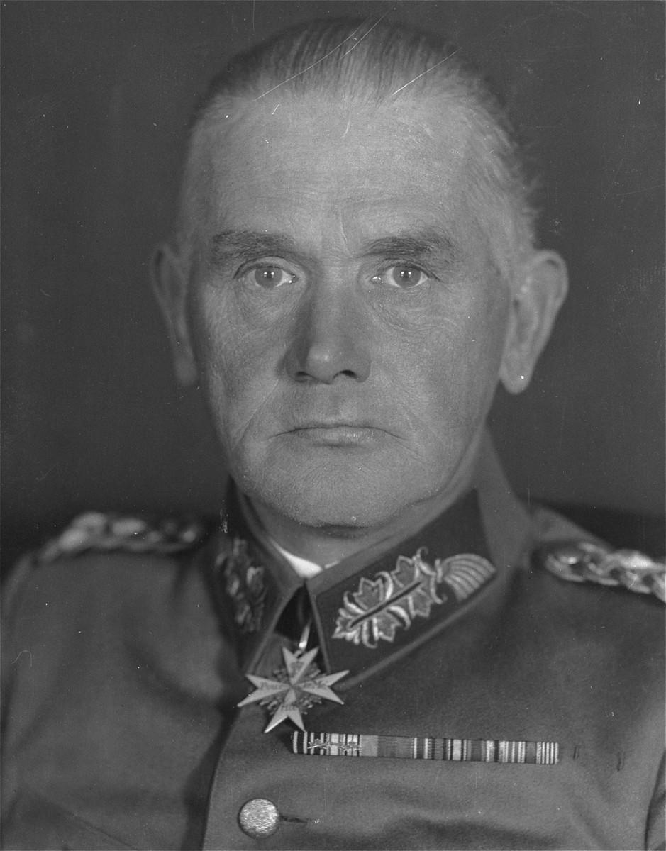 Portrait of General Werner von Blomberg.