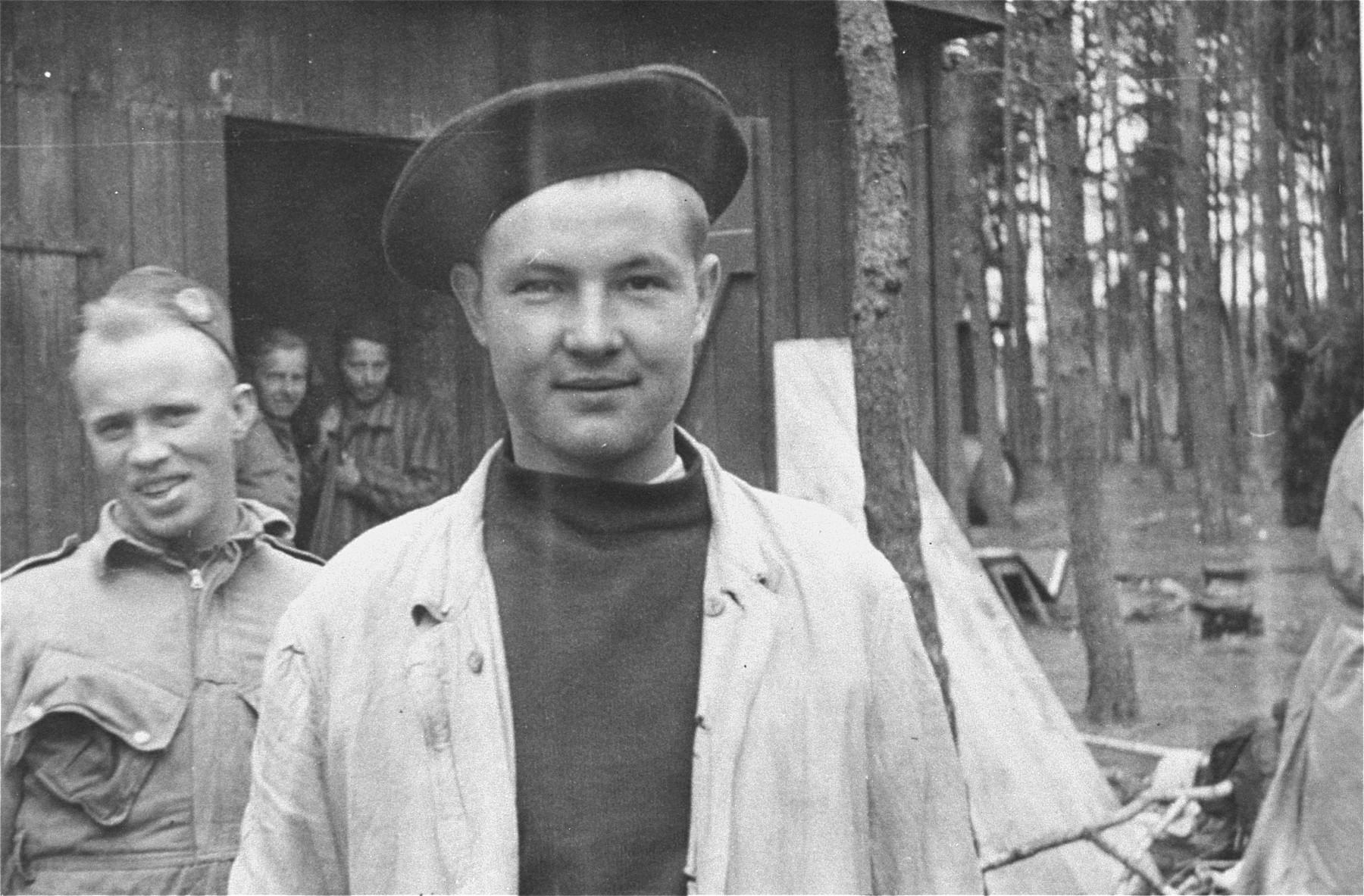 Survivor in Woebbelin after liberation.