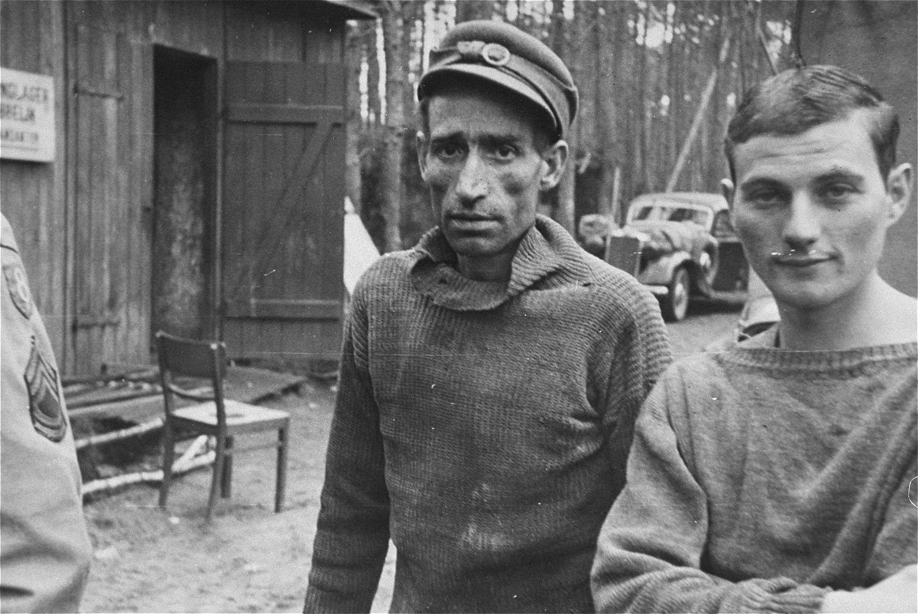 Survivor in the Woebbelin concentration camp.