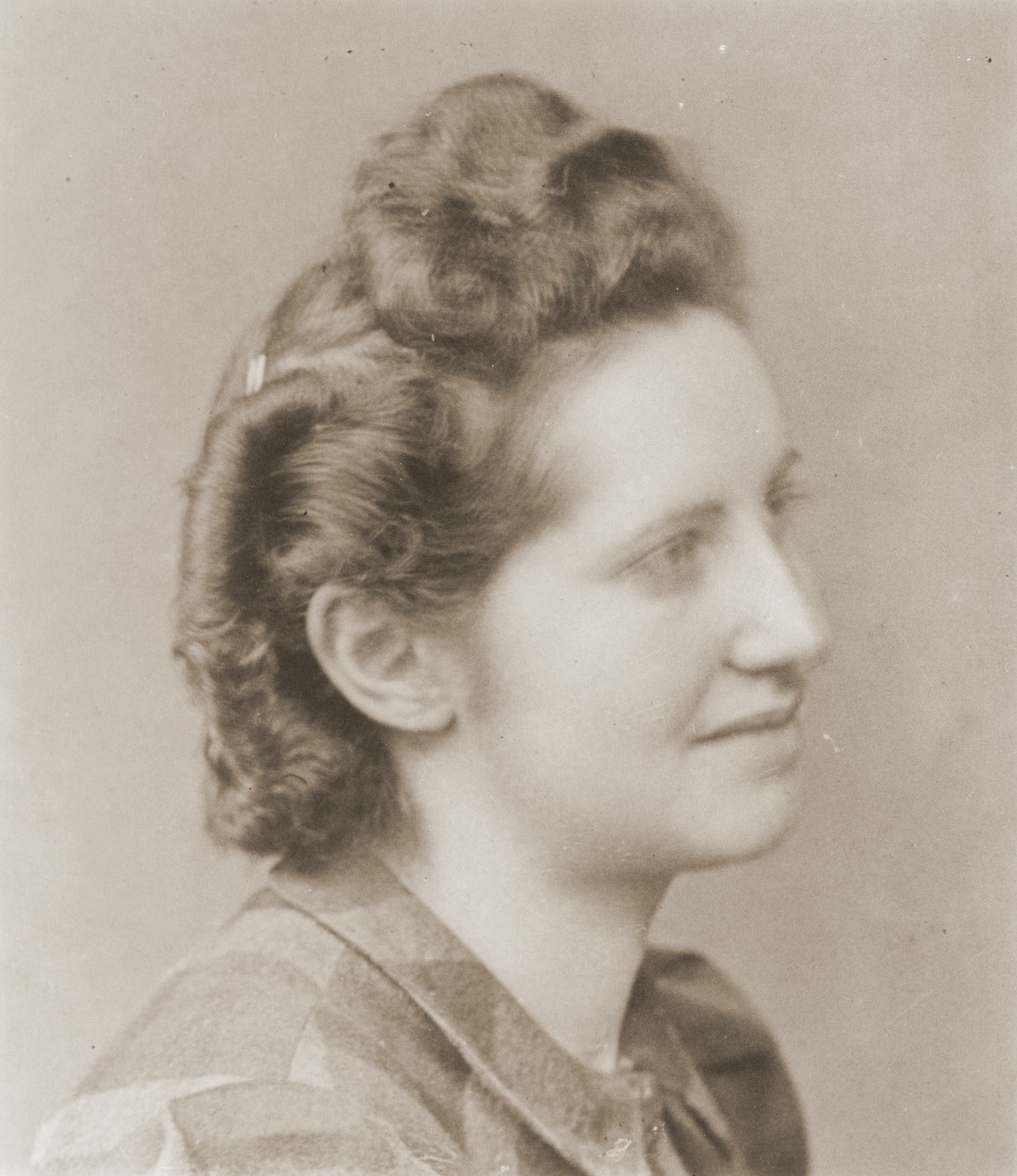 Portrait of Milly Cahen, a young Jewish woman from Luxembourg who was interned in Rivesaltes with Leo Bretholz after being turned back at the Swiss border.