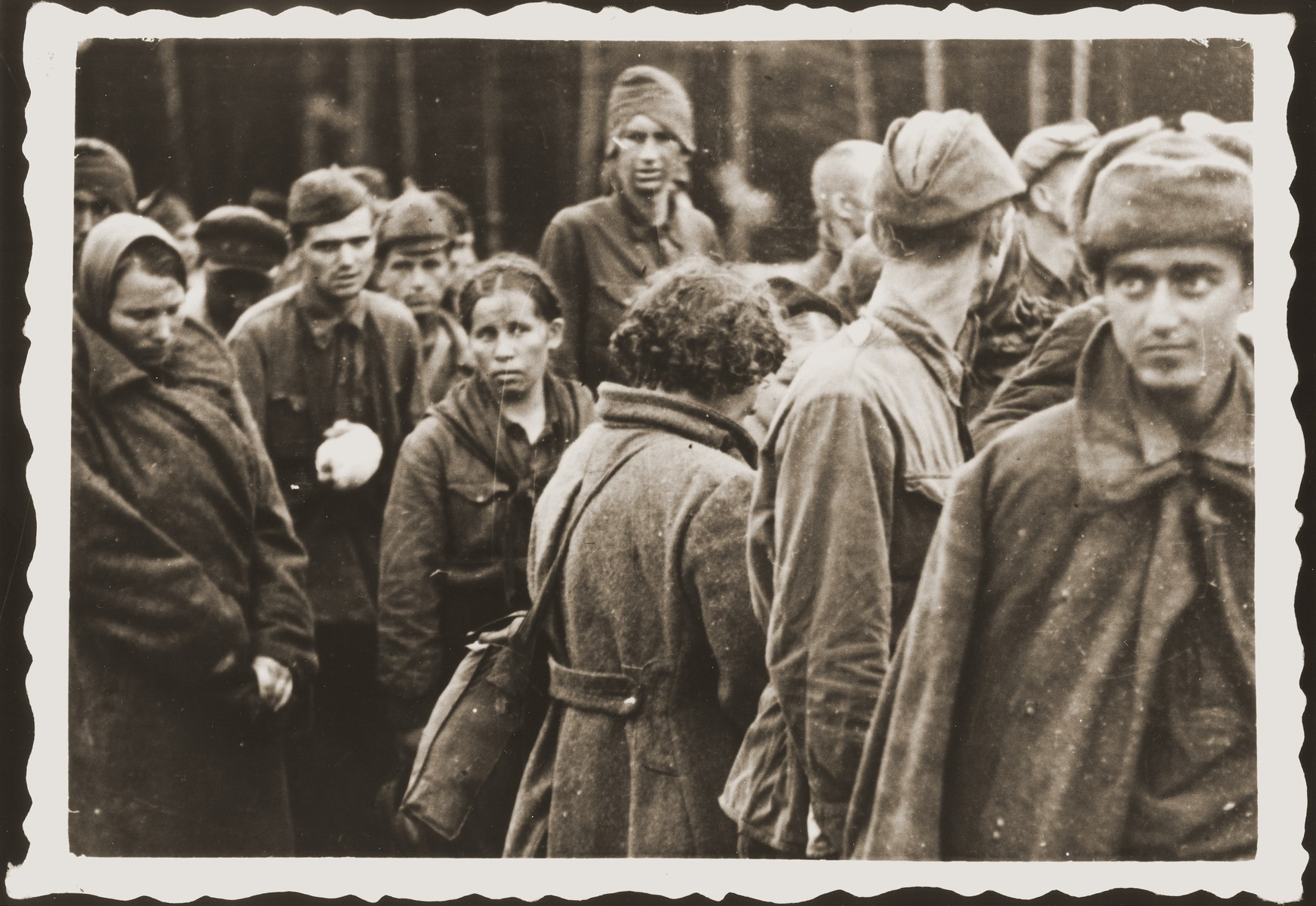 Soviet prisoners at the Deblin prisoner of war camp in Poland.
