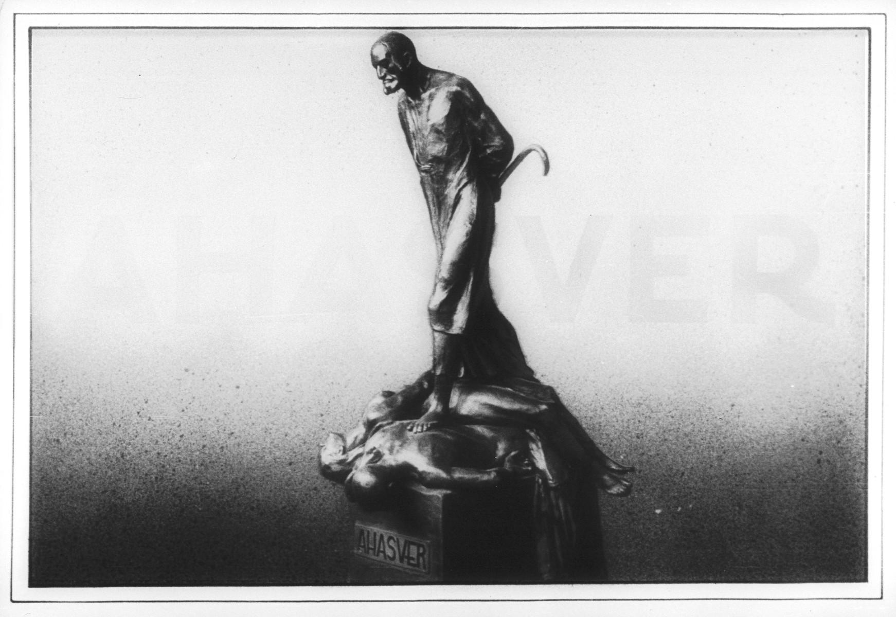 "Propaganda slide entitled ""Ahasver,"" the legendary wandering Jew."
