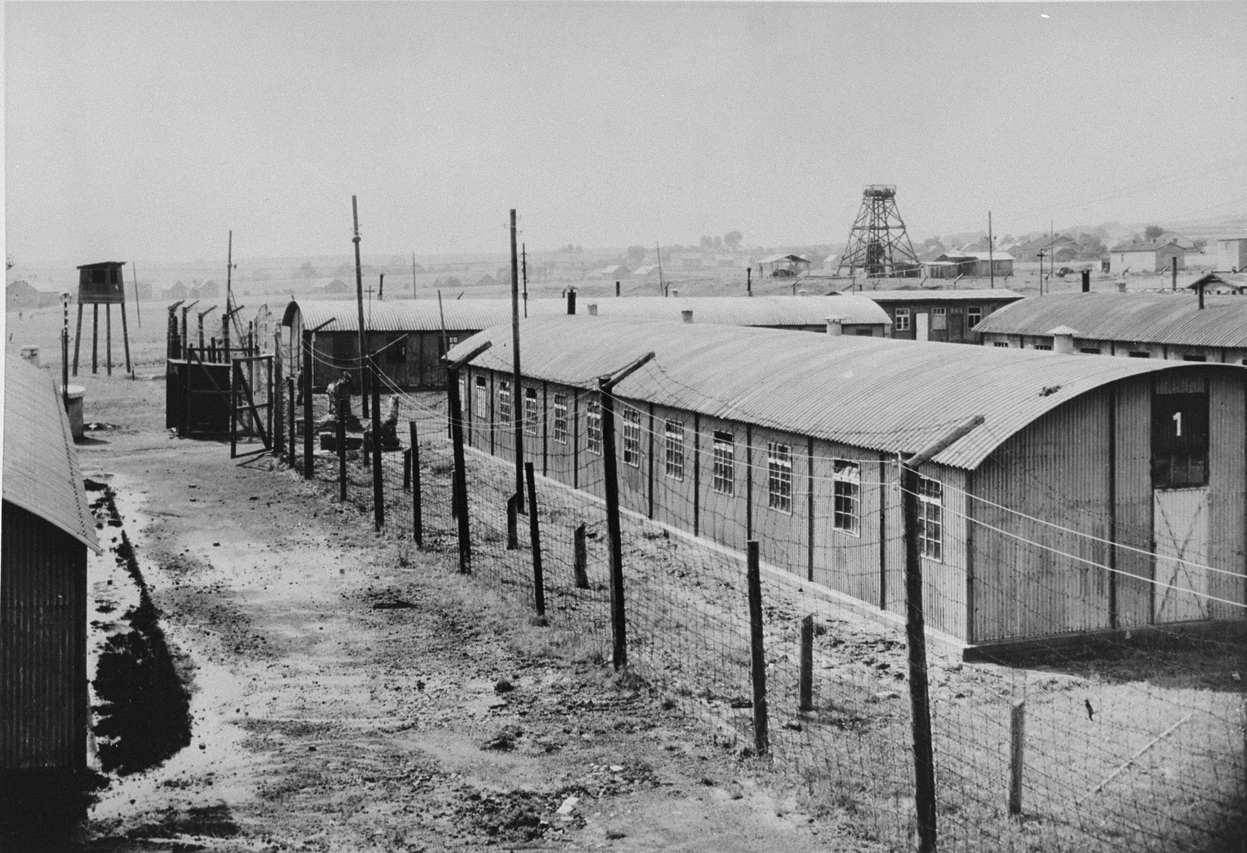 View of Trzebinia sub-camp of Auschwitz from the south.