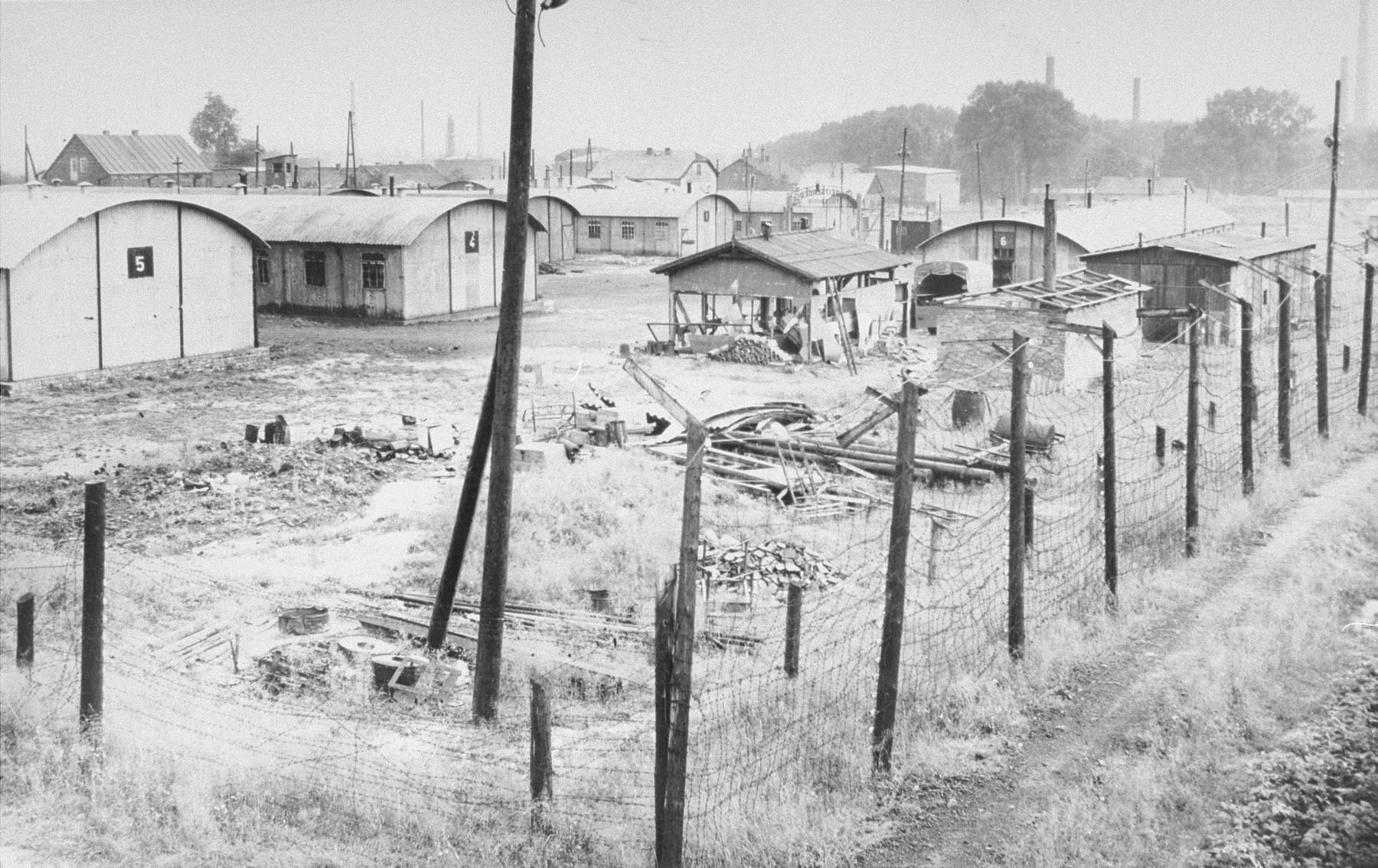General view of Trzebinia, sub-camp of Auschwitz.